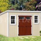 8' x 14'  Deluxe Modern Storage Shed / Building  Plans, Design #D0814M