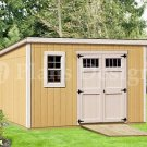 8' x 12' Traditional  Deluxe Modern Storage Shed Plans, Design #D0812M