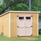 Storage Shed Plans, 8' x 10'  Deluxe Modern Roof Style, Design #D0810M