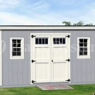 Backyard Storage Shed Plans, 6' x 14'  Deluxe  Modern Style, Design #D0614M