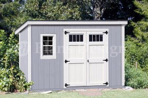 6' x 12'  Building Blueprints / Shed Plans  Deluxe  Modern Style, Design #D0612M