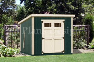 6' x 8'  Wooden Garden Deluxe Modern Storage Shed Plans, Design #D0608M