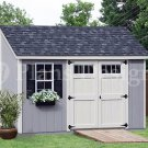 6' x 12'  Deluxe Lean To Shed  Floor Plans / Blueprint , Design #D06012L