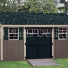 6 ft x 16 ft Storage Building Deluxe Lean To Shed Plans, Design #D06016L