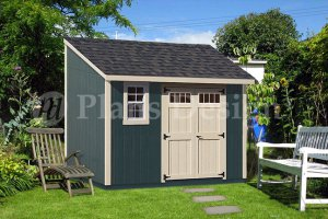 8' x 12'  Deluxe Lean To Storage Shed Plans, Material List Inluded, Design #D0812L