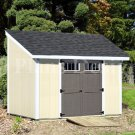 Utility Storage Builing 8' x 10' Deluxe Lean To Shed Plans, Design #D08010L
