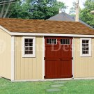 10' x 14'  Deluxe Lean-To Do It Yourself Storage Shed Plans, Design #D1014L