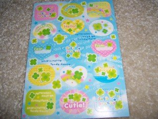 Soft Breeze Clover Sticker Sheet