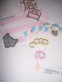Pig & Cat Mini memos  2 designs, 4 of each