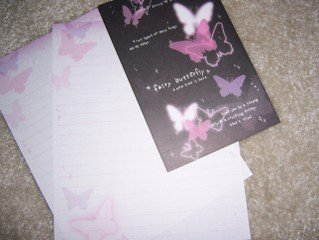 Fairy Butterfly Letter Set
