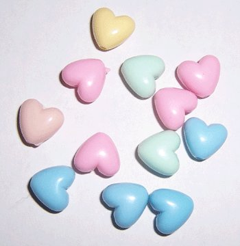 Pastel Heart Beads