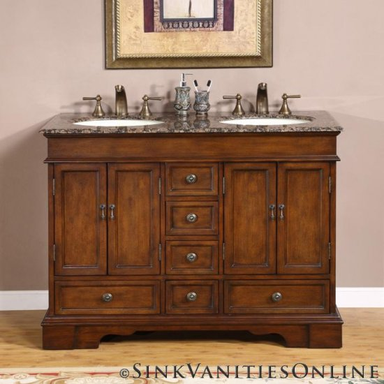 48 Sedona Small Double Sink Bathroom Vanity Cabinet 0715