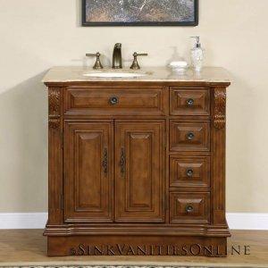 38 Empress Bathroom Off Center Vanity Left Sink 0904