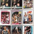 DAVID ROBINSON (9) Card Early 90's Lot w/ RC + Ins.