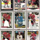 MICHEL GOULET (9) Card Lot w/ 1987 + 1992 Topps++