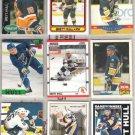 BRETT HULL (9) Lot w/ 1990 Score + Topps, 91 UD Heroes+