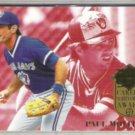 PAUL MOLITOR 1994 Ultra Career Award Insert #2 of 5.  BREWERS