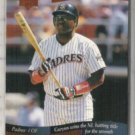 TONY GWYNN 1997 UD Memorable Moments Insert #5 of 10.  PADRES