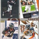 (4)  CLINTON PORTIS Premium Cards w/ 2003 Fleer Mystique++