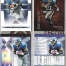 (4)  TIKI BARBER Premium Cards w/ 2004 Fleer Genuine+++