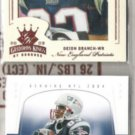 (2)  DEION BRANCH Premium Cards w/ 2003 Donruss Gridiron Kings+