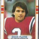 DOUG FLUTIE 1989 Topps #198.  PATRIOTS