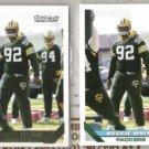 (2) REGGIE WHITE 1993 Topps Gold Insert w/ sister.  PACKERS