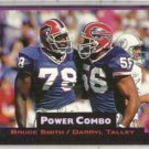 BRUCE SMITH 1993 Power Combo Insert #5 w/ TALLEY.  BILLS