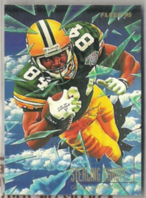 STERLING SHARPE 1995 Fleer Pro Vision Insert #2 of 6.  PACKERS