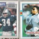 (2) HERSCHEL WALKER 1987  + 1989 Topps.  COWBOYS