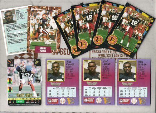 HENRY JONES (10) Card Lot w/ 1995 Donruss Red Zone+++