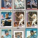STEVE BALBONI (9) Card Lot w 87 Fleer, 1984s - 1991