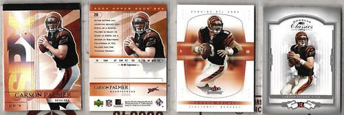 CARSON PALMER (4) Card 2004 Premium Lot - Bengals