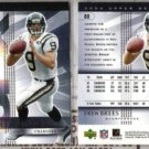 DREW BREES 2004 Upper Deck SPX (2) Card Lot - Chargers