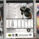JERRY RICE 2004 Upper Deck SPX (3) Card Lot - Raiders