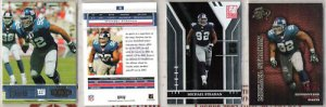 MICHAEL STRAHAN (4) Card Premium Lot - 2003 - 2004