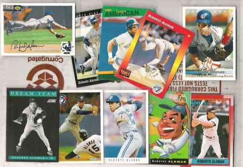 ROBERTO ALOMAR (10) Card 90's Lot w/ Silver Sig. Insert