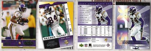 RANDY MOSS (4) Card Premium Lot - 2003 + 2004