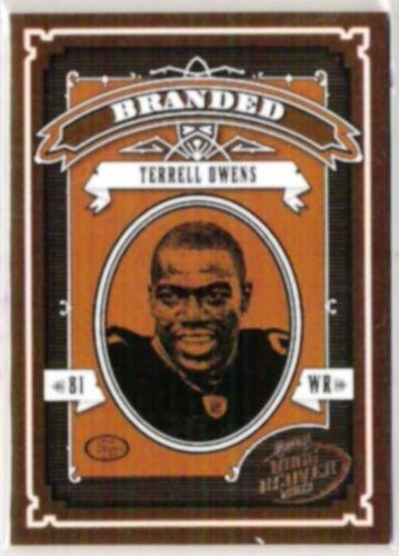 TERRELL OWENS 2003 Playoff Hogg Heaven Branded Insert #B15  49ers