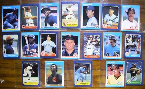 (19) MLB Mini Fleer Lot HOF loaded - straight from sets