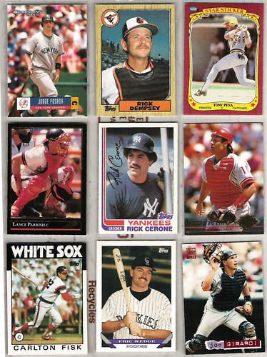 MLB Famous CATCHERS (9) Card Lot - 1982 - 05 w/ Fisk