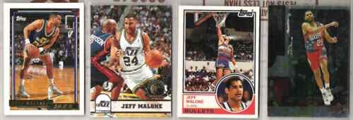 JEFF MALONE (4) Card Lot w/ 1992 Topps + 93 Hoops GOLDS
