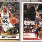 JEFF MALONE (4) Card Lot w/ 1992 Topps + 93 Hoops GOLDS