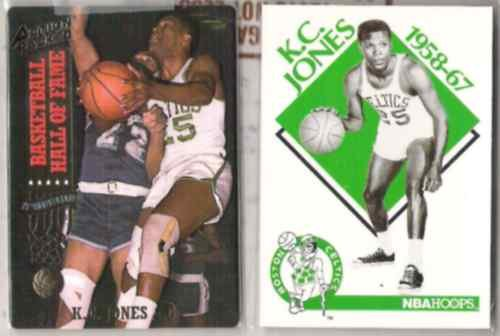 KC JONES (2) Card Lot - 1993 Action Packed + 90 Hoops