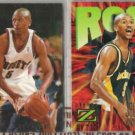 JALEN ROSE (2) Card Lot w/ 1995 Fleer Rookie Sensation+