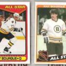 RAY BOURQUE (4) Lot w/ (2) 1984 Topps, 90 Score + OPC