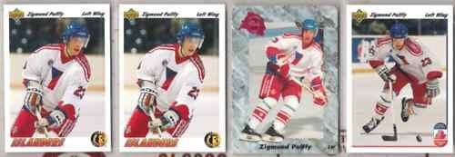 ZIGMUND PALFFY (4) Lot w/ (3) 1991 UD, 91 Classic
