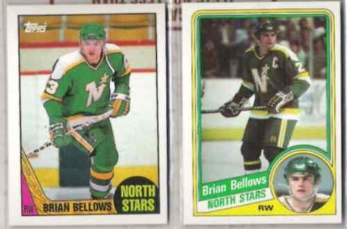 BRIAN BELLOWS (2) Card Lot: 1984 + 1987 Topps - STARS