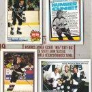 WAYNE GRETZKY (4) Hockey Card Lot w/ Brent, Keith Card+