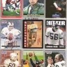 (9) NFL HOF Cards w/ RIGGINS, DITKA, DORSETT, LT - 90's